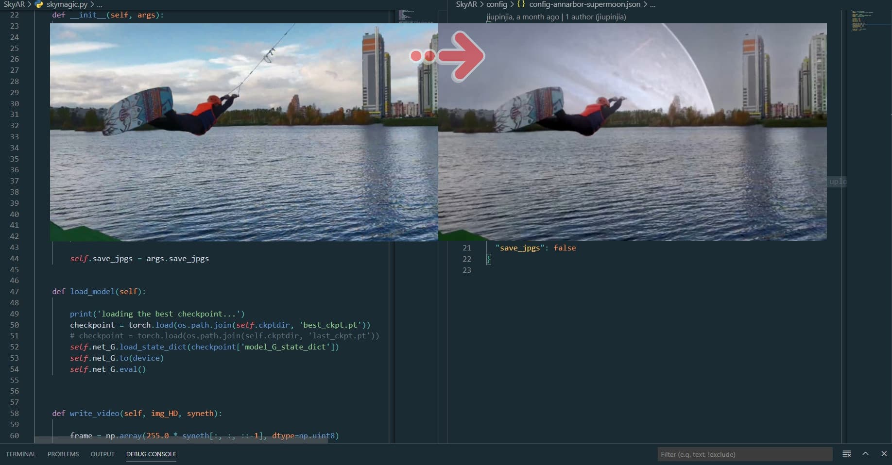Sky replacement in video with Python and AI (epic!)